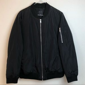 NWOT New Look Black Zip Up Bomber Jacket Size 12